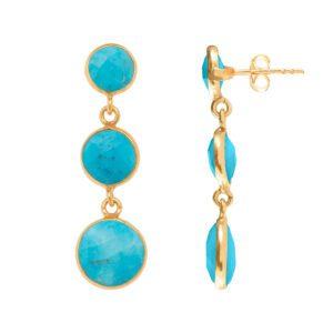Rosie Blue Lapis Gemstone Gold Bangle Bracelet